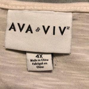 Ava & Viv Tops - Ava & Viv cream tank top